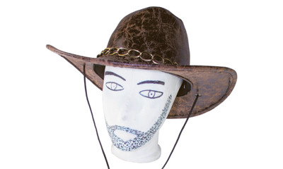 Cowboy hat with chain