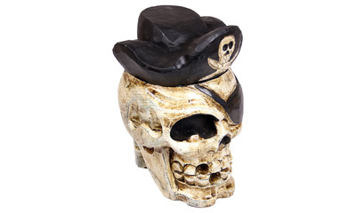 skull and crossbones with hat