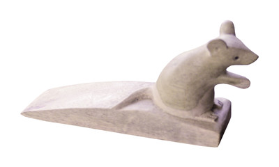 Doorstop mouse sitting