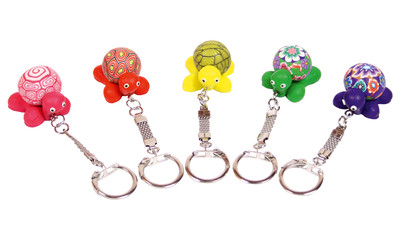 Keychain turtle-ball rubber