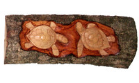 Sign turtle carved