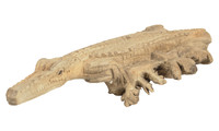 Crocodile carved