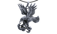 Pendant eagle with snake silver