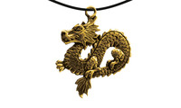 Pendant chin. serpent dragon gold