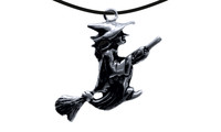 Pendant witch on broom