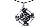 Pendant cross with celtic knot