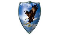 Knight buckler - Eagle with snake