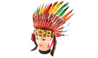 Chieftain headdress rainbow for kids