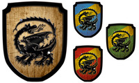 Escutcheon dragon