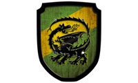 Escutcheon dragon green