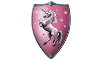 Knight buckler - unicorn pink
