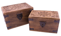 Wooden chest celtic knot
