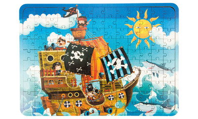 Holz-Puzzle Piratenschiff