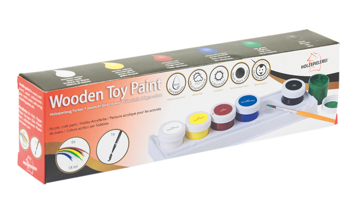 Toys For Painting : Wooden toy paint