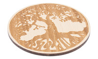 Drink Coaster natural - tree of life, set of 4