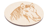 Drink Coaster natural - horse, Set of 4