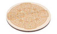 Drink Coaster natural - celtic knot, set of 4