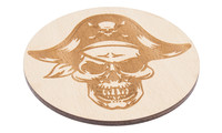 Drink Coaster natural - pirate, Set of 4