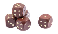 Wooden dice 16mm, Set of 10