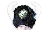 Viking fur hat black