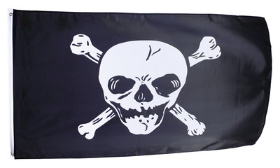 Piratenflagge groß 2-farbig