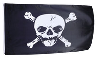 Pirate flag large bicoloured