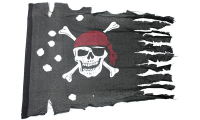 Piratenflagge rustikal