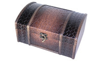 Wooden chest leather-look