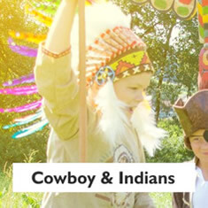 Cowboy and American Indian play world